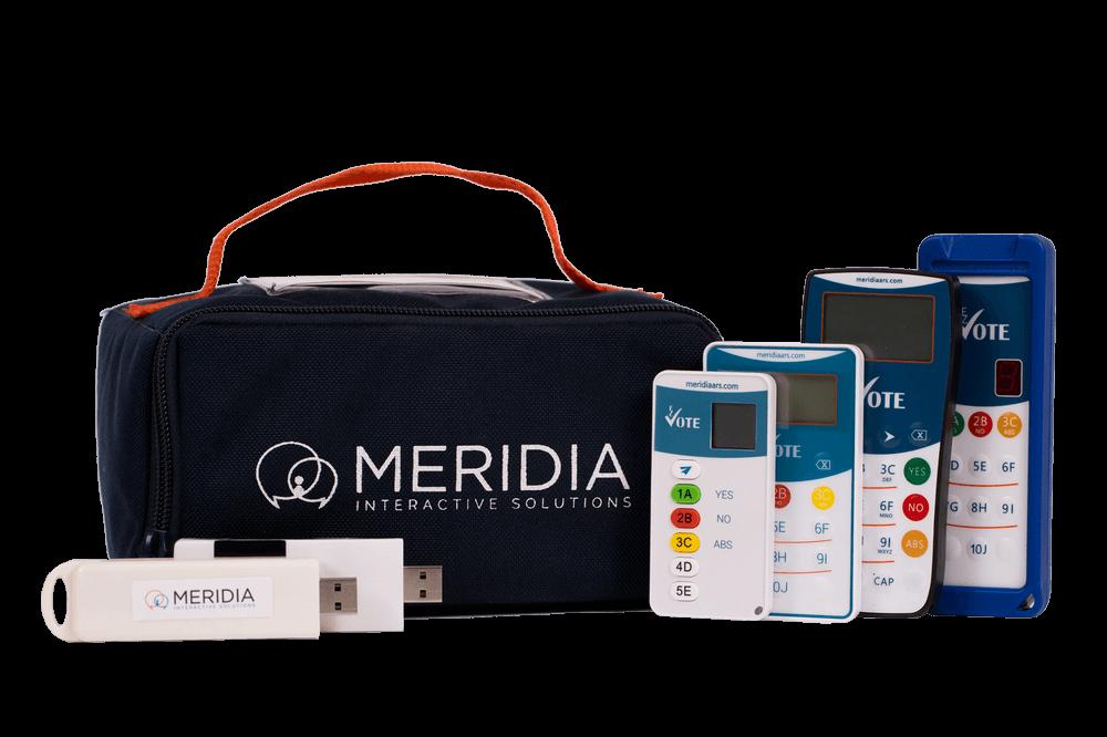 Meridia audience response keypads